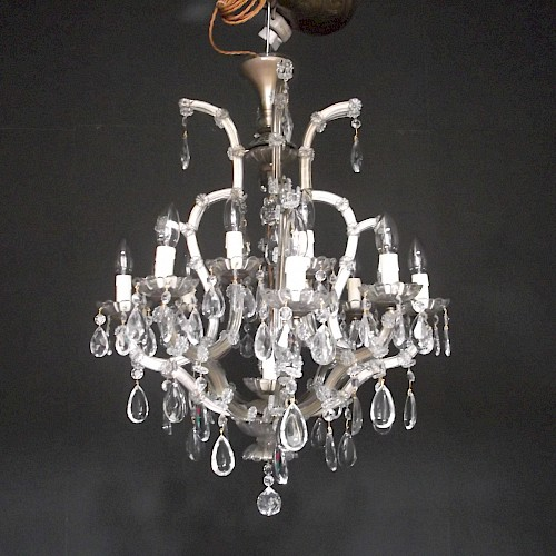 Large Marie Therese Crystal Chandelier 1930