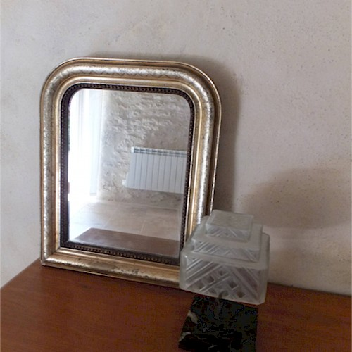 A Small French Antique Mirror 1870