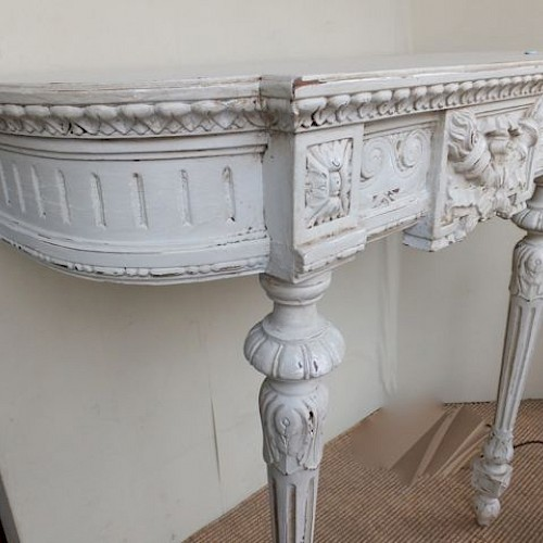 French Antique Painted Console