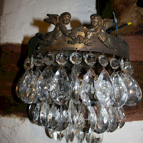 A Pair of French Crystal Wall Lights