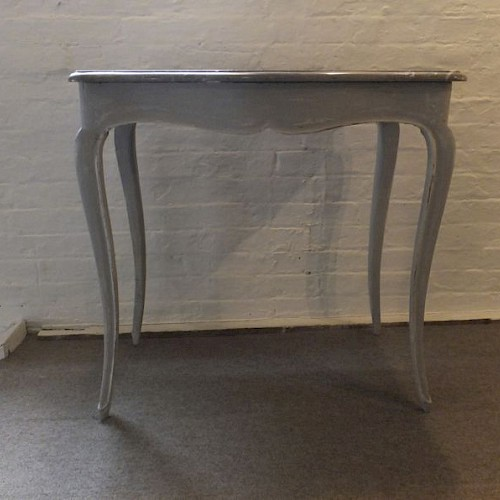 Small French Antique Marble Top Table