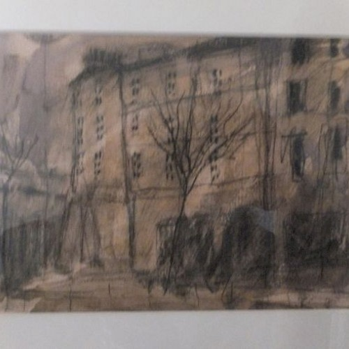 Foot of Leith Walk. Artist Stephanie Dees (mixed media)