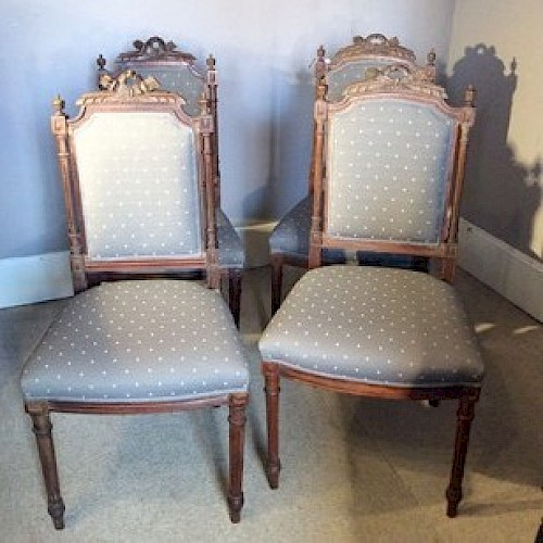 A Set of French Salon Chairs
