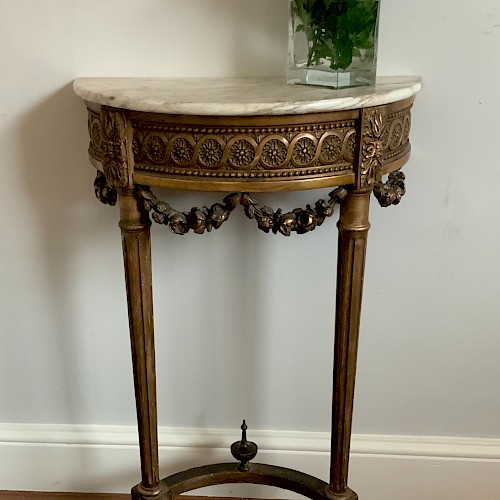 French Giltwood Console Table C1850